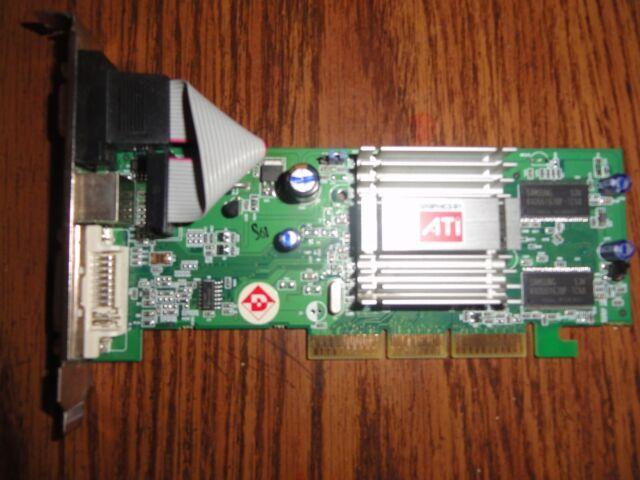 ATI 1024-RC25-H2-BD Radeon 9250 128MB DVI VGA PCI Video Card TESTED