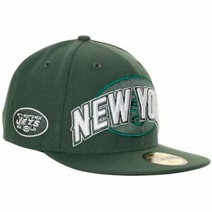 98f0db02b4a31 New Era NEW YORK JETS NFL Green Draft Hat 59Fifty Fitted Kids Cap ...