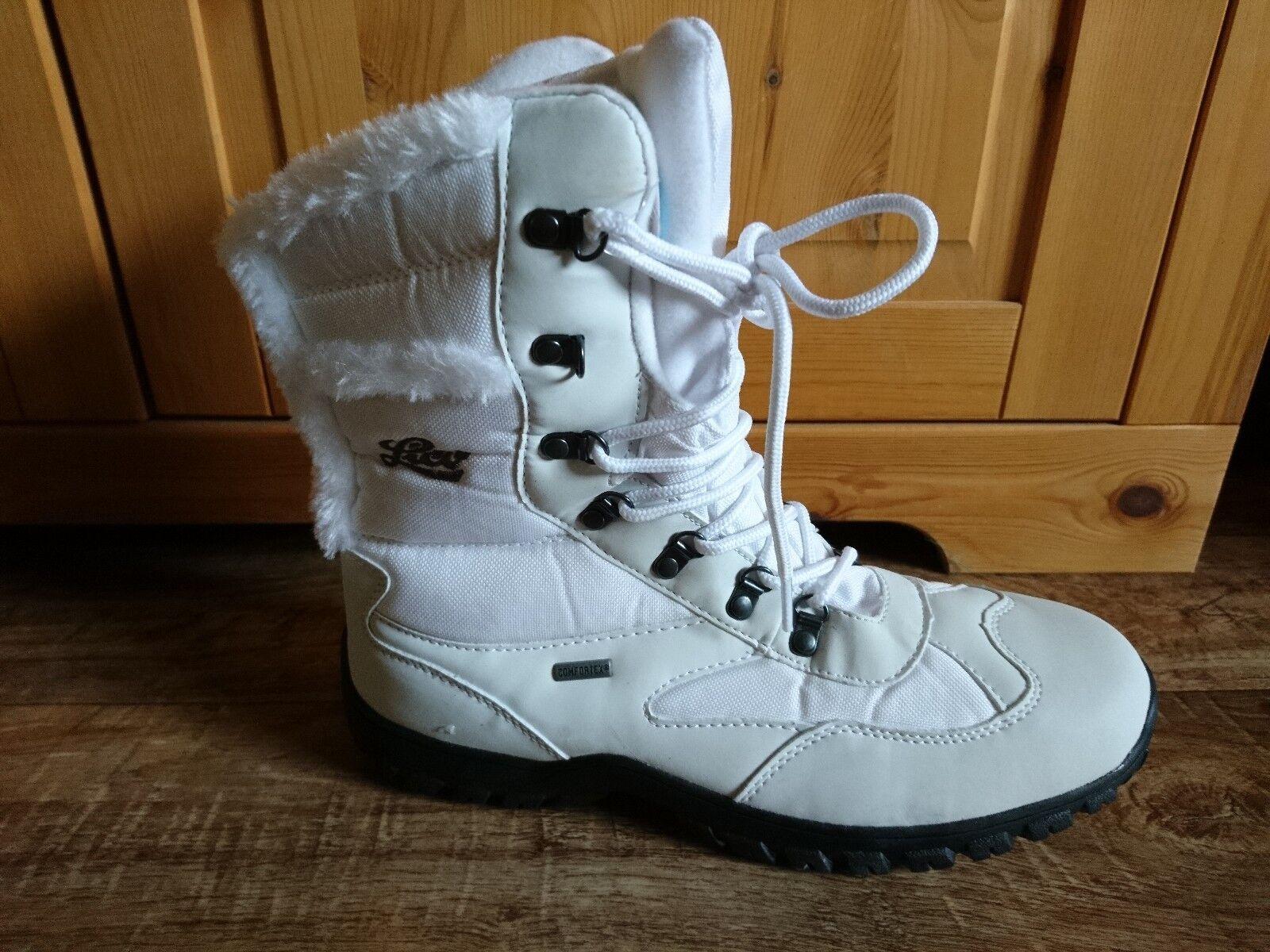 LICO Saskia Femmes Bottes D'Hiver Boots Bottes Neige Nouveau Bottes Blanc Nouveau Neige 781187