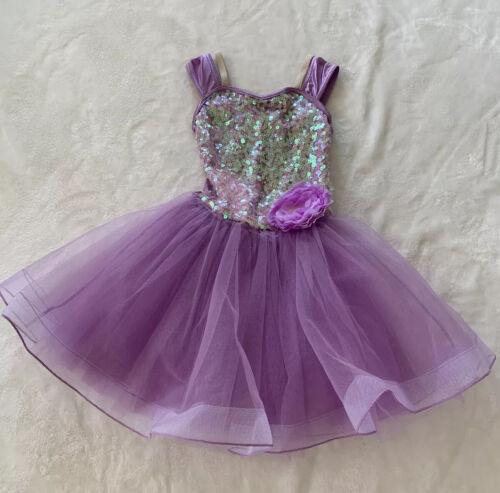 Weissman Lavender Dance Costume Large Child Sequin