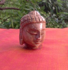 Bouddha-Tete-Marbre-Statue-Sculpture-Fait-main-Inde-Decor-Bouddhisme-Nepal-Tibet