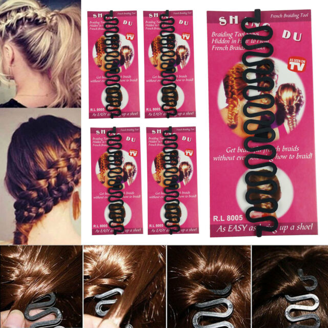 Pack of 6 Women Girl Hair Styling Twister Clip Braider Tool DIY Accessories