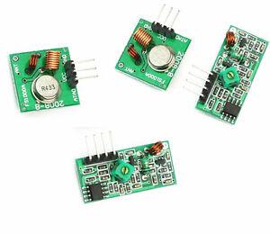 Rf Wireless 315 433 Mhz Transmitter Receiver Module Pair Qq
