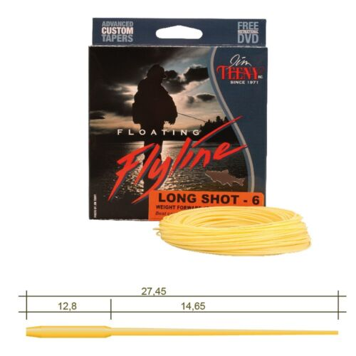Jim Teeny Long Shot mouches ficelle-Fly Line-WF 4 5 8 9 Floating-Prix Recommandé 79,90 €