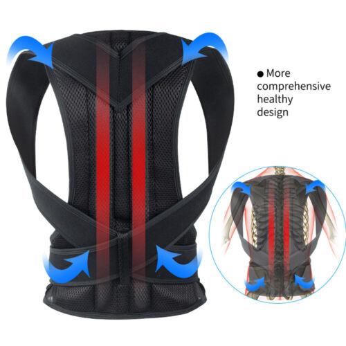 Back Posture Magnetic Shoulder Corrector Support Brace Belt Therapy Men Women