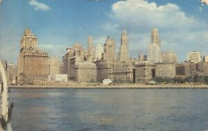 Vintage-1951-Postcard-Manhattan-Skyline-New-York-USA-United-States-27W