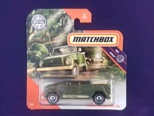 Matchbox volkswagen tipo 181 The Thing//kuebel 1//60 gkm40-la10 aprox
