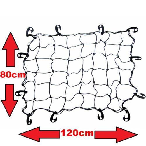 Gepäck Trenn Kofferraum Netz elastisch mit Haken schwarz 120 x 80 cm NEU