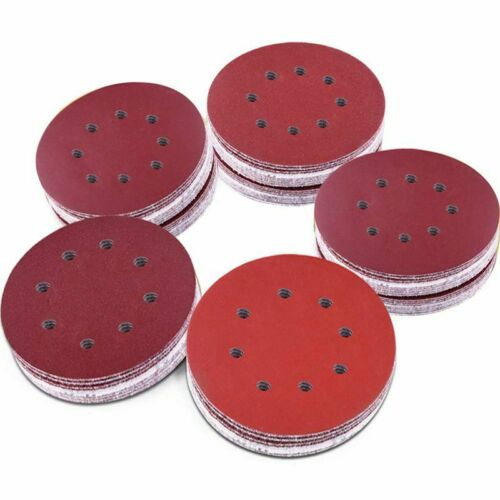5 Inch Hook And Loop 1000//1200// 1500//2000 N1X9 100 Pieces 8 Holes Sanding Discs
