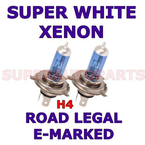 FITS  FORD P100 PICK-UP 1988-1991 SET H4 HALOGEN XENON SUPER WHITE  LIGHT BULBS