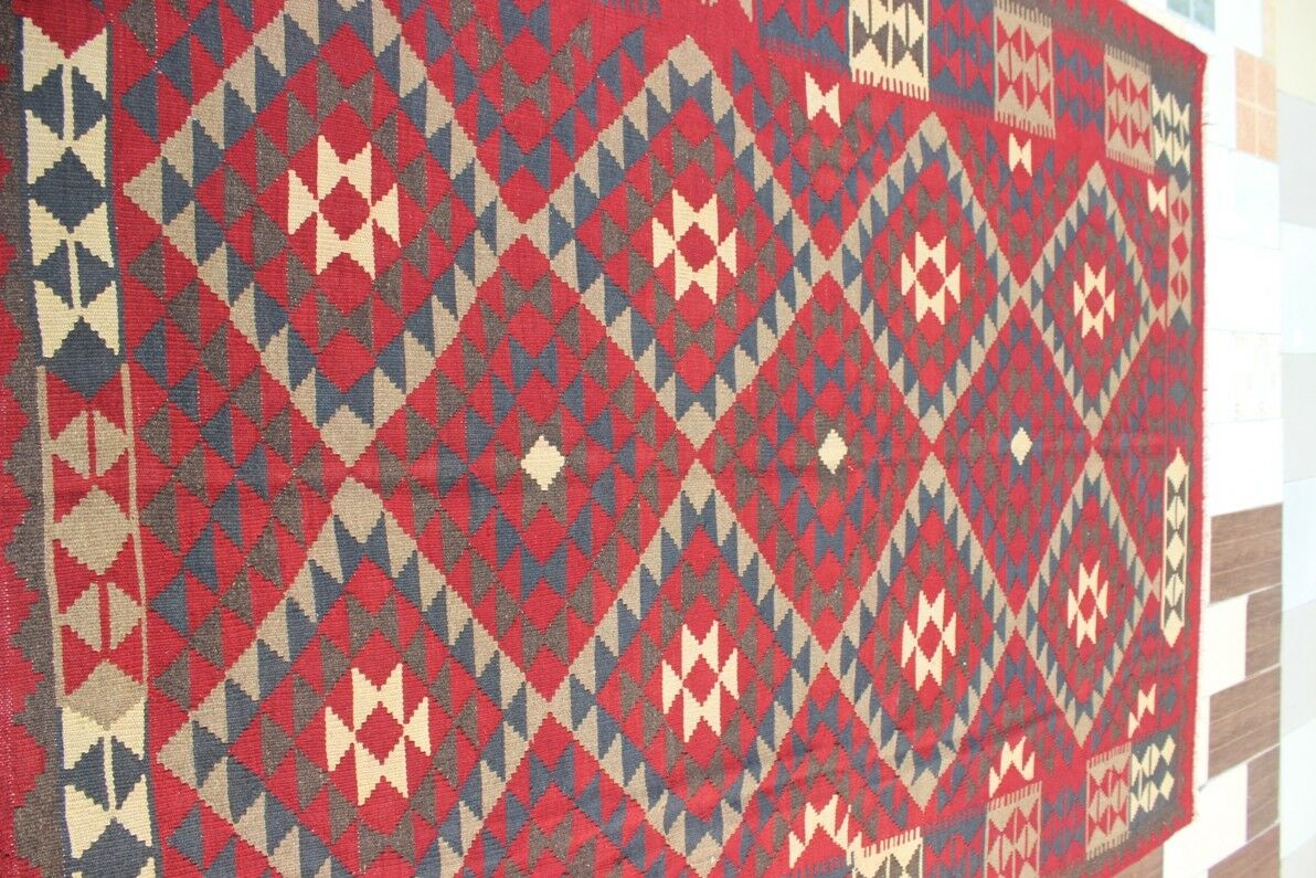 433014... Tribal Tissé à à à la main laine d'agneau Maimana Kilim... taille... 276 x 215... cm | Les Produits Sont Vendus Sans Prescription Mode Et Forfaits Attractifs  c18c2d