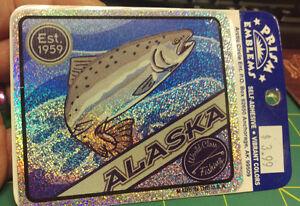 Alaska-Prism-decal-Sticker-Alaska-World-Class-Fishing-EST-1959-Salmon-New-Unused