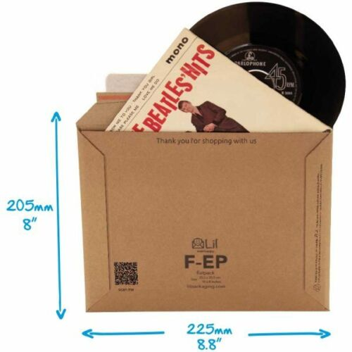 """SO VERY STRONG THESE DO NOT REQUIRE STIFFENER PADS 10 x FEP 7/"""" RECORD MAILERS"""
