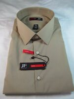 J. Ferrar Slim Fit Solid Long Sleeve Dress Shirt, Khaki, Multiple Sizes