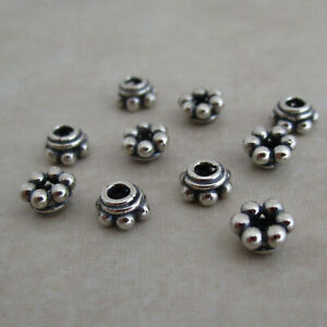 sterling-silver-beaded-bead-caps-oxidized-beaded-Bali-5mm