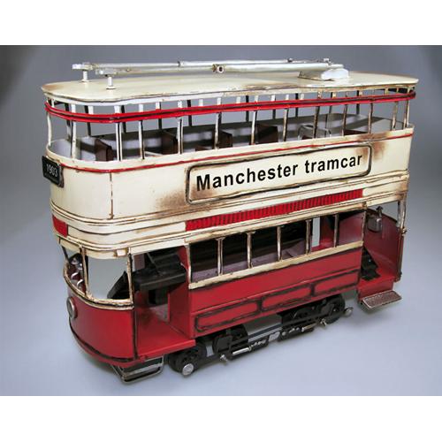uomoCHESTER TRAMauto rosso & gituttio 1903 cm 35 Timplate Gift's Art.Vari Die Cast