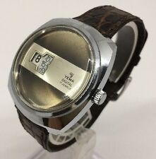 YEMA VINTAGE RARE DIGITAL FRENCH MADE JUMP HOUR WORKING GREAT SIZE 37mm