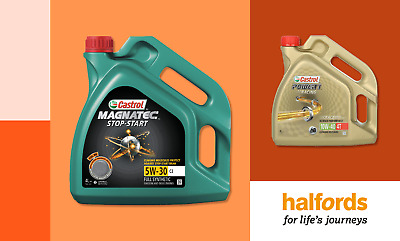 20% off All 4L Castrol Oil from Halfords