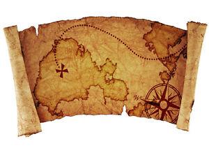 Carte Au Tresor Pirate.Details Sur Stickers Autocollant Transparent Poster A4 Carte Au Tresor Tresor Map Pirate