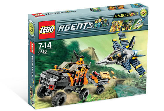 Lego Agents 8630 Mission 3 : oro Hunt Nuovo SEALED