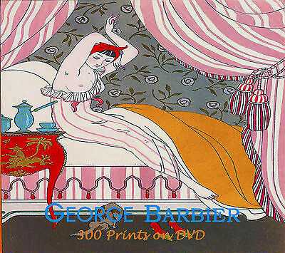 George Barbier Art Deco  Ponchoir Prints Illustrations Fashion  haute couture