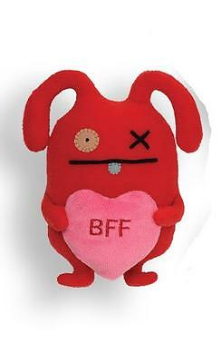 "UGLYDOLL - GUND -  7"" LITTLE  OX -  BFF HEART  - BEST FRIENDS  FOREVER"
