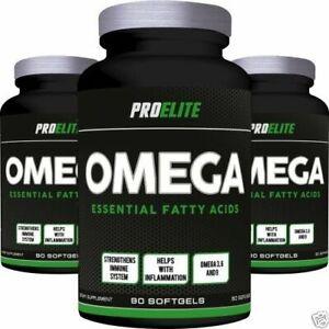 PRO Elite Omega 3/6/9 acidi grassi essenziali 180 x 1000mg Softgels