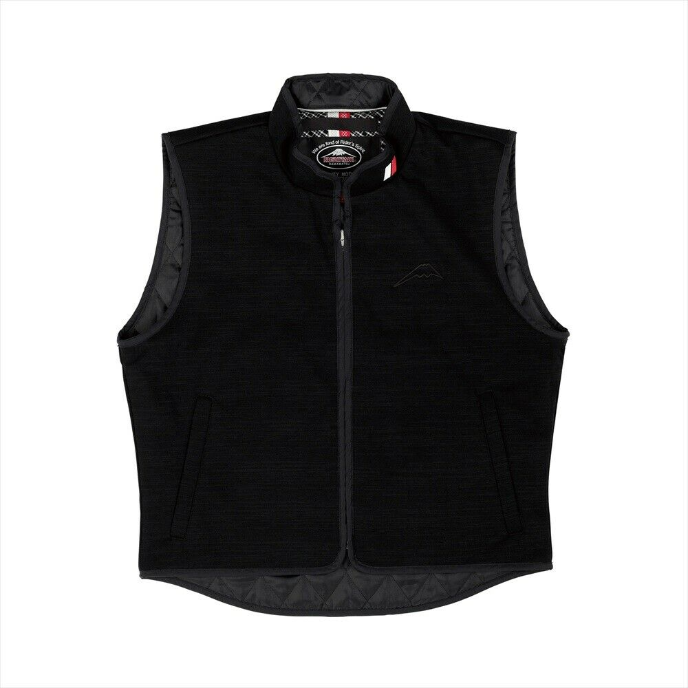KUSHITANI GENUINE OEM WINDSTOP VEST K-1894 BLACK MOTORCYCLE RIDING WEAR