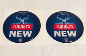 Tooheys-New-NSW-Acrylic-Dome-sticker-set-Tap-Beer-Decal-Mancave-UTE