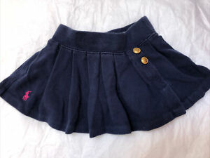 Lauren - Ralph Lauren - Beautiful Navy Blue Pleated Skirt - Age 18 months