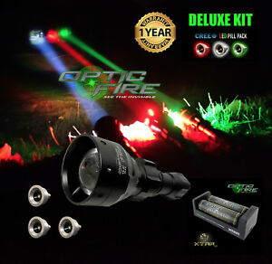 Opticfire ® TX-67 T67 Mini Deluxe-Suprême DEL Hunting Torch Gun Lampe Kit NV-afficher le titre d`origine nSfBkuzO-07165751-343170583