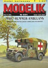 M997 4x4 Hummer US Army ambulance 1:25 paper model Modelik 8/01