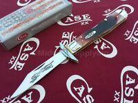 Case Xx Cheetah Knife Embellished Locking Clip Blade Caramel Bone Handle 33982