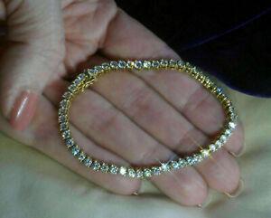 5-00-Carat-Round-Cut-Ladies-VVS1-Diamond-Tennis-Bracelet-14k-Yellow-Gold-Over-7-034