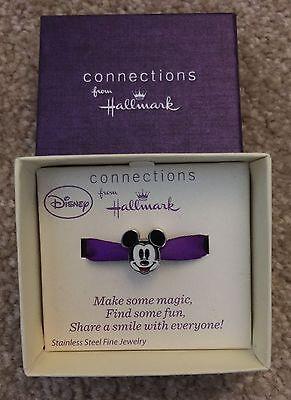 "Disney /""Make Magic/"" Stainless Steel Mickey Dangle December Birthstone Bead Charm"