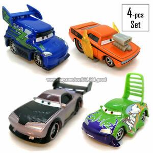 Mattel-Cars-4pcs-Set-Disney-Pixar-Toy-Car-Boost-DJ-Wingo-Snot-Rod-Diecast-Loose