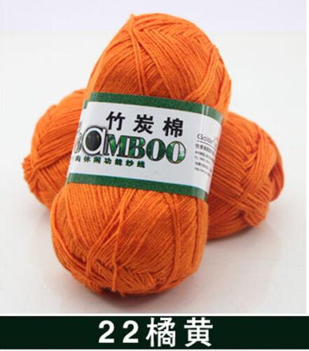 50g Super Soft Natural Smooth Bamboo Cotton Knitting Cole Yarn Ball