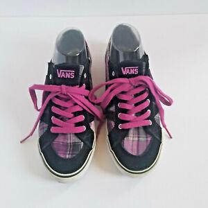 Vans Women S Purple Plaid Sneakers Sz 8 5 Black Gray Lace Up Shoes Eu 39 Uk 6 Ebay