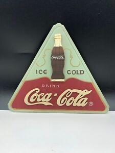 Coca-Cola-Shield-Advertisement-Wood-11-13-16in-Top-Condition
