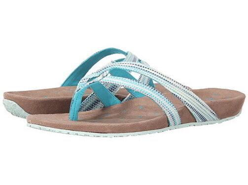 Brand New Ahnu Women's Hanaa Textile USA Flip Flops shoes