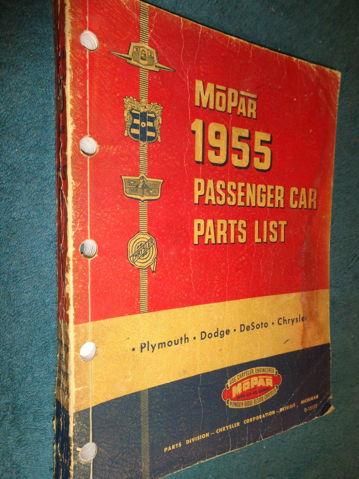 Remarkable 1955 Dodge Plymouth Desoto Parts Catalog Parts Manual Original Book Wiring Cloud Hisonuggs Outletorg