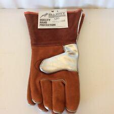 2 Heat Resistant Welder Gauntlets Aluminium Backed Gloves Left Hand Only Medium