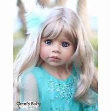 "NWT Masterpiece Dolls Jasmine Blonde Blue Eyes Monika Levenig 11 Joints 39"""