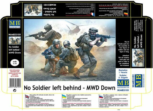 NO SOLDIER LEFT BEHIND - MWD DOWN 1/35 MASTER BOX 35181 NEW 2016
