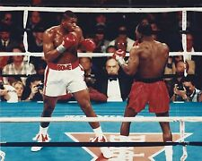 RIDDICK BOWE  vs EVANDER HOLYFIELD 8X10 PHOTO BOXING PICTURE RING ACTION