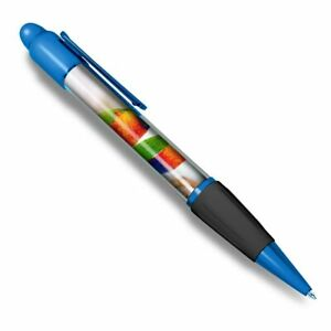 Blue-Ballpoint-Pen-Rainbow-Lorikeet-Tropical-Parrot-Bird-Office-Gift-16202