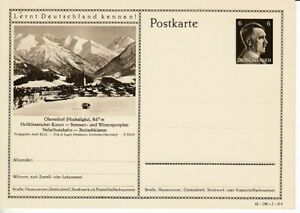 German-Reich-Stationery-P-304-Oberstdorf