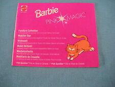 405A Catalogue Dépliant Barbie 1991 Mattel 20 pages Pink Magic Poupée