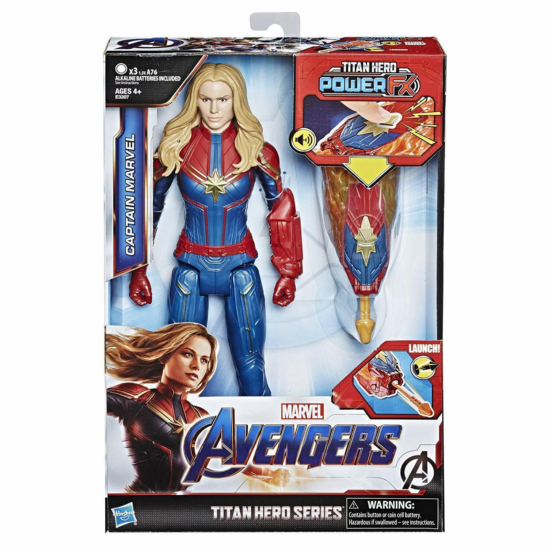 Marvel Avengers  Endgame Titan Hero Power FX Captain Marvel12 Inch Action Figure