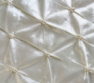 52-034-Button-Style-Taffeta-IVORY-Pearl-Iridescent-Tufted-Fabric-By-The-Yard
